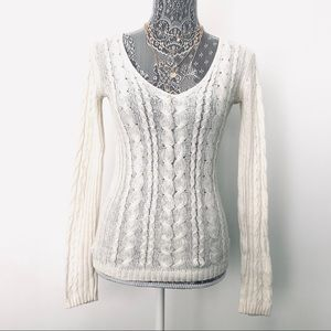 Gap Wool Alpaca Lightweight Cableknit Sweater